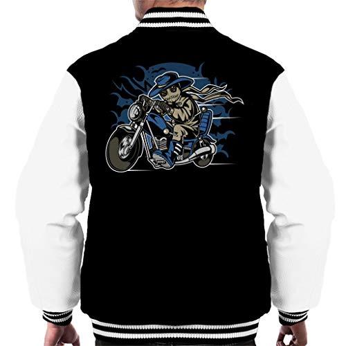 Voodoo Doll Biker Men's Varsity Jacket