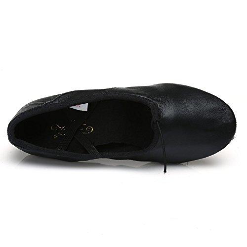 ... HROYL Donna Is-CT Scarpe da Ballo Tela/Leather Insegnante 's Dance  Shoes ...