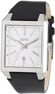 Esprit monterey A.ES104071001 - Reloj analógico de cuarzo para hombre, correa de cuero color negro de Esprit