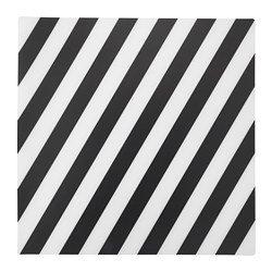 """IKEA Tischset \""""PIPIG\"""" Platzset schwarz-weiß-gestreift - 37x37 cm - aus pflegeleichtem Polypropylen"""