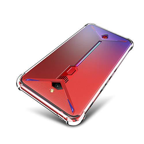 SLEO Hülle für ZTE Nubia Red Magic 3 Hülle,Ultra Dünn TPU Schale Schutzhülle Clear Case Soft Cover für ZTE Nubia Red Magic 3 (Ultra Slim - 1 mm) - Transparent