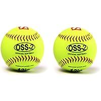 barnett OSS-2 balle de softball, baseball initiation 12'', blanc, 2 piece