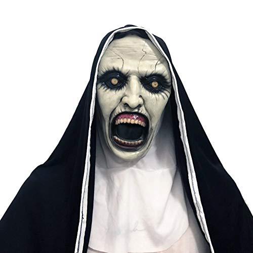 Forart Die Nonne Maske Halloween Maske gruselig Spukhaus Prop blutigen Zombie Gesicht Cosplay Kostüm