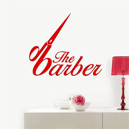 lyclff Mann Friseur Aufkleber Zeit Hacken Brot Aufkleber Haarschnitt Rasierer Poster Vinyl Wandkunst Aufkleber Windows 108 * 125 cm