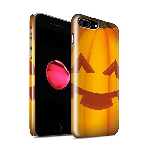 STUFF4 Glanz Snap-On Hülle / Case für Apple iPhone 8 Plus / Böse Muster / Halloween Kürbis Kollektion Glücklich