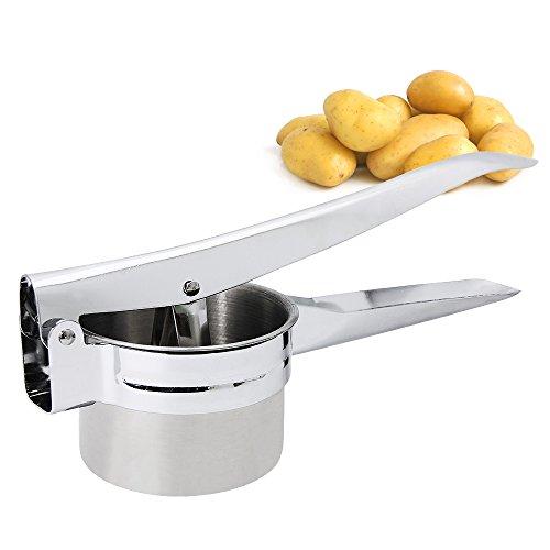 Zilong Prensa patatas, de acero inoxidable, Interchangeable discs,para patatas,frutas, verduras