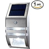 Solare del sensore di movimento della luce esterna della nuova generazione di garanzia di design / vita / Sensore PIR alimentato solare Led / acciaio inox / impermeabile durevole / Recinto Muro vialetto Giardino Patio Light Path / migliorare la sicurezza / proteggere il vostro investimento