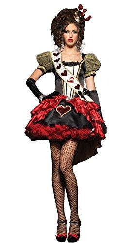 GGTBOUTIQUE Deluxe Royal Red Queen-Kostüm (Large) (Royal Red Queen Kostüm)