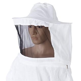 PIXNOR Professionelle Imkerei Anzug Jacke Mantel Pullover Bee Schutzanzug Kittel mit Schleier - freie Größe
