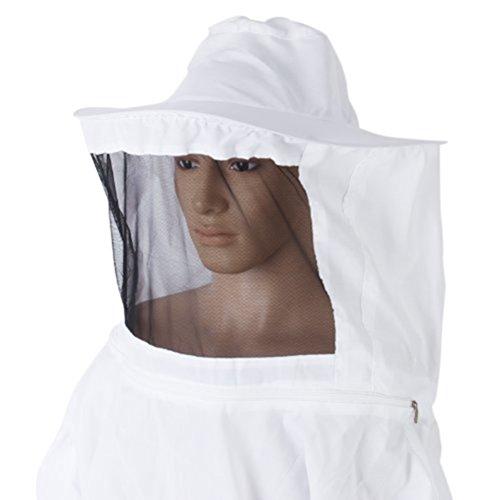 PIXNOR Apicoltura professionale tuta cappotto giacca Pullover ape vestito protettivo il grembiule con velo - formato libero