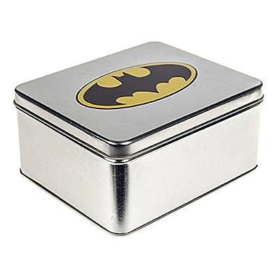 DC Comics Batman Boîte Métallique Cadeau - Ceinture Logo (Noir) - Taille unique