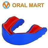Oral Mart Protector bucal Sports para niños/Adultos (10 Mejores Colores) para el Karate, fútbol de la Bandera, Artes Marciales, Rugby, Hockey, Boxeo (con Funda ventilado)