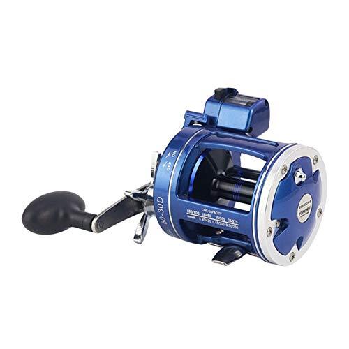 WEIWEITOE-DE Metal Left/Right Handle Casting Sea Fishing Reel Saltwater Baitcasting Reel Coil 12 Ball Bearings Cast Drum Wheel (Reel Cast)