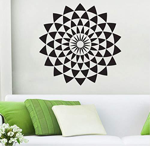 wuyyii 43X43 CM Geometrische Wandtattoo Illusion Wandaufkleber Wohnkultur Buddha Heiligen Design Wohnzimmer Schlafzimmer Dekoration