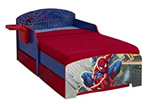 Spiderman Toddler Bed with Underbed Storage and Bedside ...