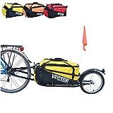 Polironeshop Vector Remolque para Bici Bicicleta de trasporte por cicloturismo Carro Carrito (Amarillo)