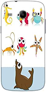 Snoogg Background With Sea Animal Designer Protective Back Case Cover For Sam...