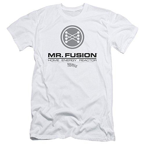 387fe400ab Regreso al futuro II sci-fi movie Sr. Fusion Logo Adulto Camiseta Slim Tee