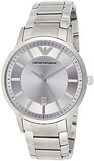 Emporio Armani Men's Ar2478 Dress Silver Watch, Analog Dis
