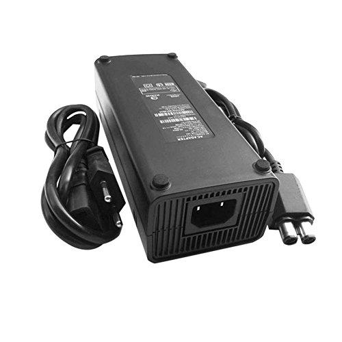 Cable de cargador de fuente de alimentación de adaptador AC 100-240V para X-BOX 360 Cargador de reemplazo ideal delgado con indicador de luz LED Enchufe de la UE