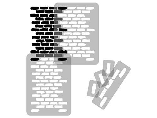 Geometrische Wiederverwendbare Wandschablone aus Kunststoff // 65x95cm // Brick Wall // Nahtlos Repetitive Allover Muster Vorlage