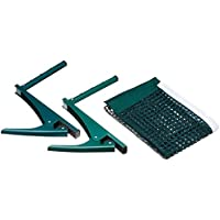 Relaxdays Tischtennisnetz, Ping-Pong-Netz, Metallklemmen, Outdoor, wasserabweisend, H x B x T: 15 x 174 x 2,5 cm, grün