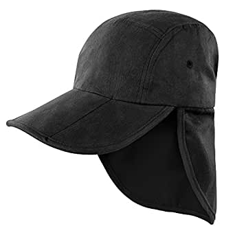 Result Headwear Kids/Childrens Unisex Folding Legionnaire Hat / Cap (One Size) (Black)