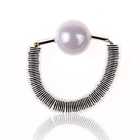 TWOPAGES Verstellbarer Ring, für Damen, mit natürlicher Süßwasser-Perle mit Kunstharz
