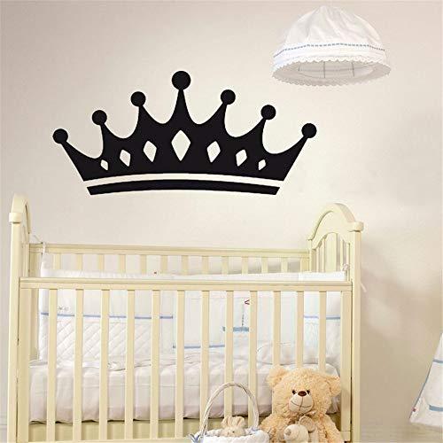 GJQFJBS Königin Krone Wandaufkleber Steuern Dekor Wohnzimmer Dekoration Wandtattoos Vinyl Aufkleber Für Baby Mädchen Kinder Schlafzimmer Blau 59 cm x 27 cm M -