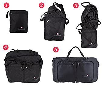 "Suvelle Lightweight 21"" Travel Foldable Duffel Bag For Luggage Gym Sports Water Resistant Nylon Duffle 2"