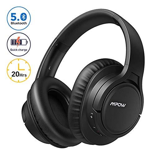 Mpow H7 Pro Bluetooth Kopfhörer Over Ear, Over Ear Kopfhörer mit Schnelles Aufladen & 20 Stunden Spielzeit, Hi-Fi Stereo Klang, Bluetooth 5.0, Memory Protein-Ohrpolster, CVC6.0 Mikrofon Freisprechen