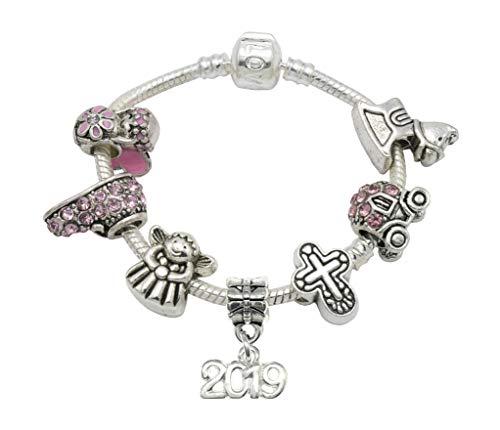 Jewellery Hut Armband, Enkelin, Taufe, Andenken, versilbert, mit Gedicht, Geschenkkarte und Geschenkbox -
