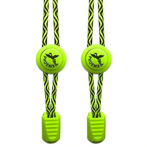 Elastische Schnürsenkel - Perfekt für Sportschnürsenkel. Einfaches Anbringen . Ebenso prima für Kinder oder Senioren - 1 Paar (Trainer Running Boys)