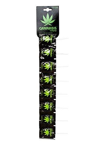 *Euphoria Cannabis Lollipops (10 Stück) | Flat Lutscher – Lolly mit Hanf ätherisches Öl (Strip)*