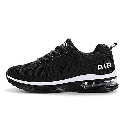 TORISKY Sportschuhe Herren Damen GolfschuheTurnschuhe Laufschuhe mit Luftpolster Sneaker Air Schuhe Leichte(A35-BK38)