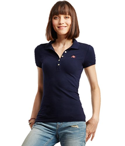 Aeropostale Women's Polo Shirt Large Navy 404a (Polo-shirts Aeropostale)