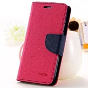 Joy Premium Cover's For MICROMAX CANVAS 2.2 ( A114 ) Flip Cover Mercury Diary Wallet Case ( Pink )