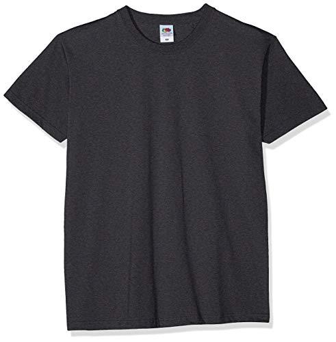 Fruit of the Loom Herren Valueweight 5 Pack T-Shirt, Grau (Dark Heather Grey Hd), Large (erPack 5 - Dark Heather T-shirt