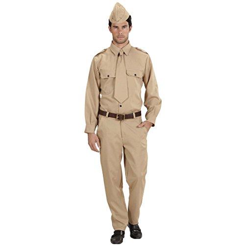 (NET TOYS Soldaten Kostüm Militär Uniform L 52 Soldatenkostüm Weltkrieg Militäruniform Krieg Soldatenuniform Armee Männerkostüm Soldat Karnevalskostüm Herren)