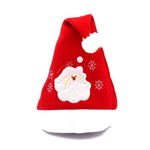 Weihnachtsmützen Weihnachtsfeier Hut Santa Red Cap für Santa Claus Kostüm Weihnachtsmann Mütze Weihnacht Nikolaus Für Kinder Erwachsene Upxiang (Gabel Kostüme Messer Löffel)