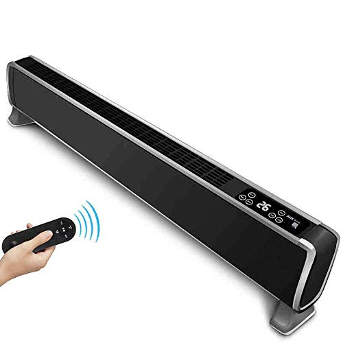 AINUO Baseboard-Heizung Home Energiespar-Ventilator Heizkörper Büro-Konvektion Elektroheizung Badezimmer (Color : Black)