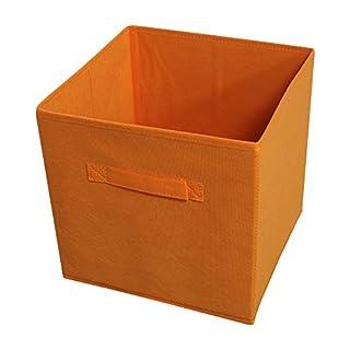 Achim Home Furnishings STRGBNOR04 Collapsible Storage Bins, Set of 4,Orange