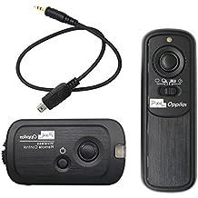 Pixel RW-221/DC2 - Disparador inalámbrico para cámara réflex Nikon (conector DC2), negro