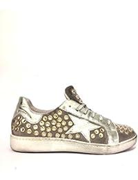 Sneakers divine follie an-24 in pelle stelle glitter oro argento oro, 40 MainApps