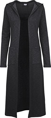 Urban Classics Damen Strickjacke Ladies Space Dye Hooded Cardigan, Mehrfarbig (Black/White 50), Small