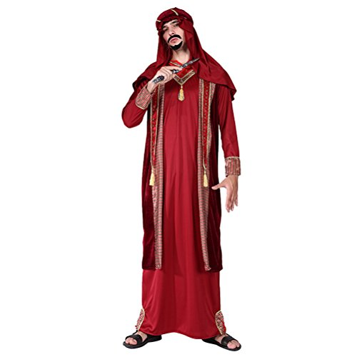 Zhhlaixing Costume da Sceicco Arabo,Cosplay Halloween Carnevale Feste Costume Attrezzatura Costume Fancy Dress Uomo