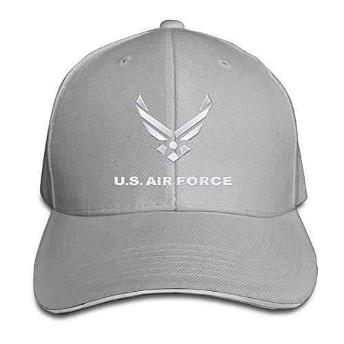 667e861f752 Bgejkos Erwachsene gefärbte Baumwolle Einstellbare Schirmmütze US Air Force  Symbol Dad Trucker Hat 01Y699