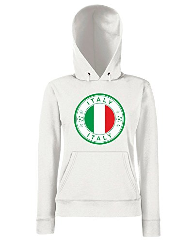 T-Shirtshock - Sweats a capuche Femme WC0850 SCRITTA Blanc