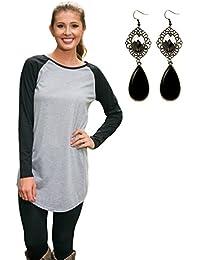 M-Queen Mujeres Camisa de Mangas Largas T Shirt Camisetas Sweatshirt Suéter Blusa Tops