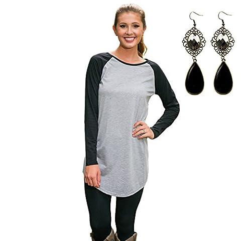 M-Queen Women T-shirt Crew Neck Long Sleeve Sweatshirt Solid Plain